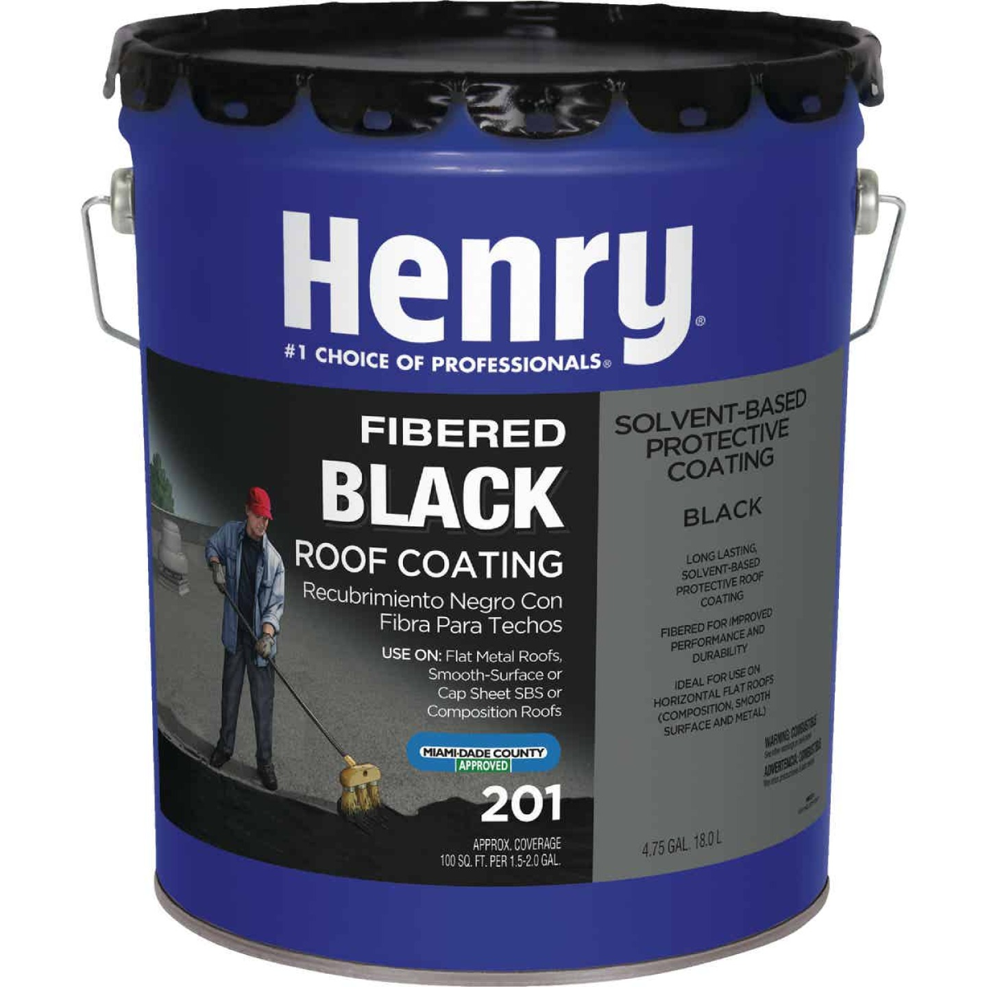 Henry 5 Gal. Fibered Asphalt Roof Coating Image 1