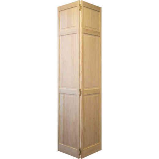 Jeld Wen 30 In. W. x 80 In. H. Pine 3-Panel Natural Color Bifold Door