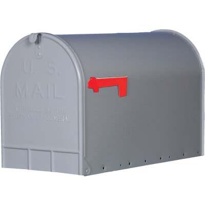 Gibraltar Stanley T3 Gray Steel Rural Post Mount Mailbox