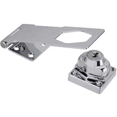 National 4-1/2 In. Keyed Different Hasp Lock