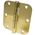 Ultra Hardware 3-1/2 In. x 5/8 In. Radius Polished Brass Door Hinge (3-Pack) Image 1