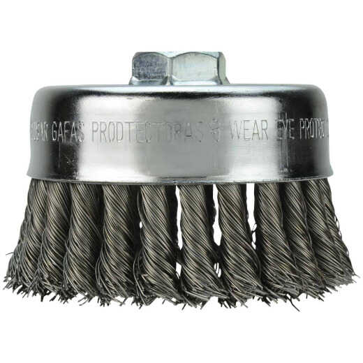 Milwaukee 4 In. Crimped .012 In. / .014 In. Angle Grinder Wire Brush