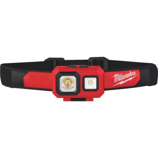 Milwaukee TrueView 450 Lm. LED Spot/Flood Headlamp, Red & Black