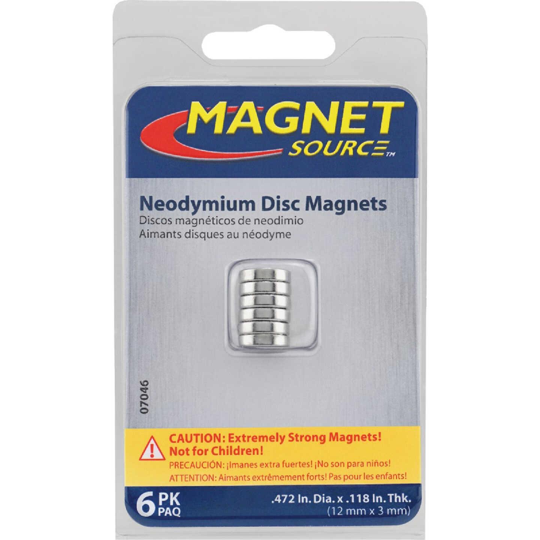 Master Magnetics 0.472 in. Neodymium Disc Magnet (6-Pack) Image 2