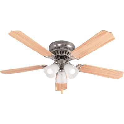 Home Impressions Piedmont 52 In. Brushed Nickel Ceiling Fan with Light Kit
