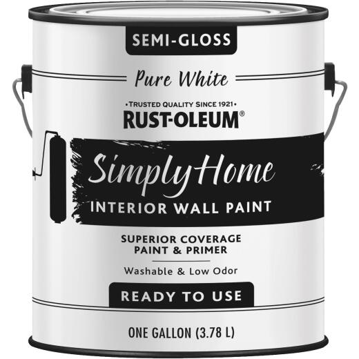 Simply Home Semigloss Pure White Interior Wall Paint, Gallon