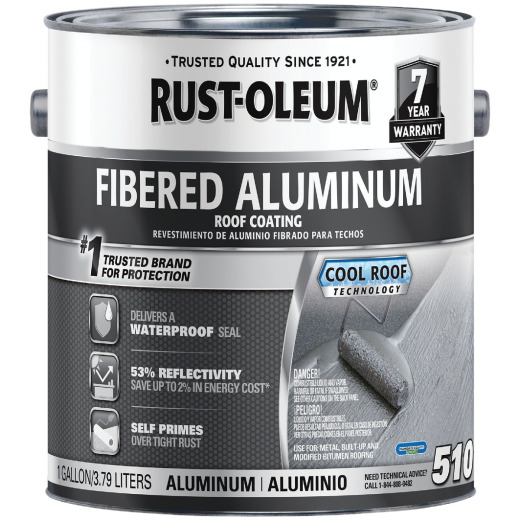 Rust-Oleum 510 1 Gal. 7-Year Fibered Aluminum Roof Coating