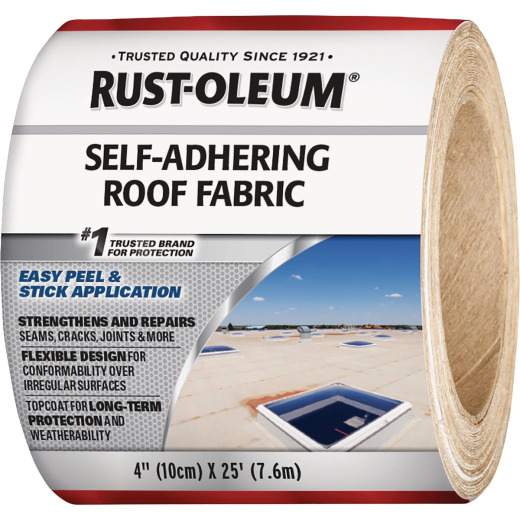Rust-Oleum 4 In. x 25 Ft. Self-Adhering Roof Fabric