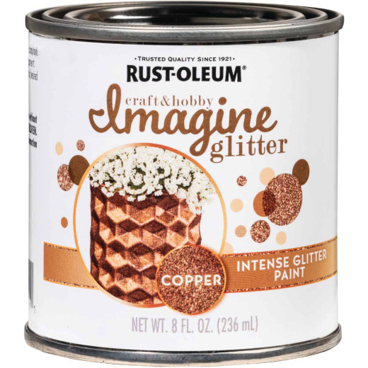 Rust-Oleum Imagine Craft & Hobby 8 Oz. Intense Copper Glitter Paint