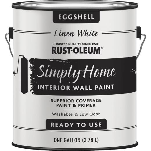Simply Home Eggshell Linen White Interior Wall Paint, Gallon